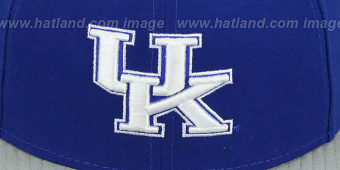 Kentucky 'SIDE BASKETBALL-PATCH' Royal-Grey Fitted Hat by New Era