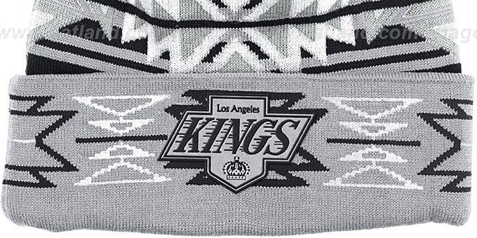 Kings 'GEOTECH' Knit Beanie by Mitchell and Ness