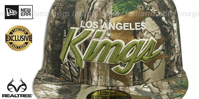 Kings 'NHL TEAM-BASIC SCRIPT' Realtree Camo Fitted Hat by New Era
