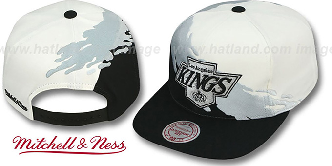 Kings 'PAINTBRUSH SNAPBACK' White-Grey-Black Hat by Mitchell & Ness