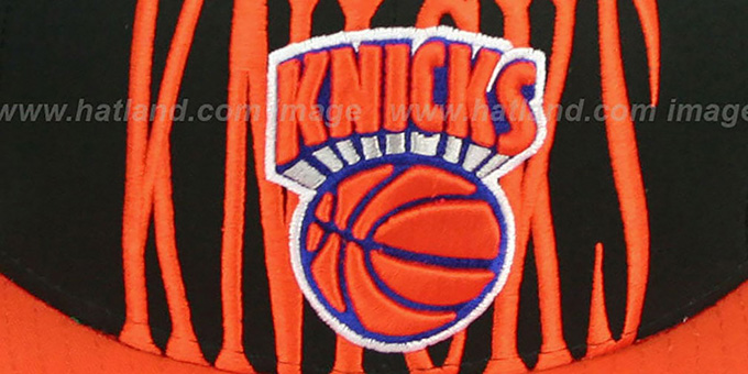 Knicks 'STEP-ABOVE SNAPBACK' Black-Orange Hat by New Era