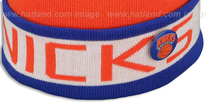 Knicks 'THE-BUTTON' Knit Beanie Hat by Michell & Ness