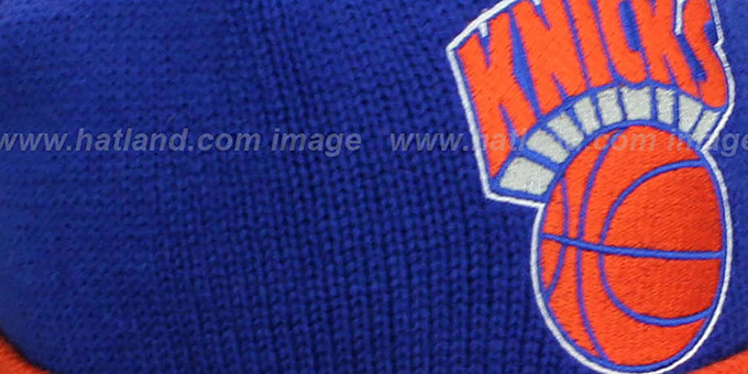 Knicks 'XL-LOGO BEANIE' Royal by Mitchell and Ness