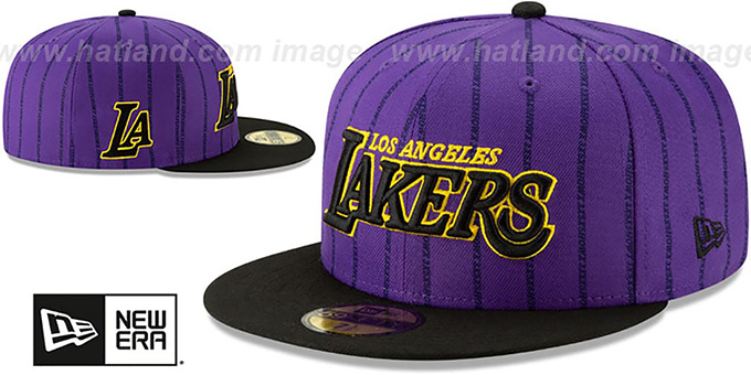 Lakers '18-19 CITY-SERIES' Purple-Black Fitted Hat by New Era