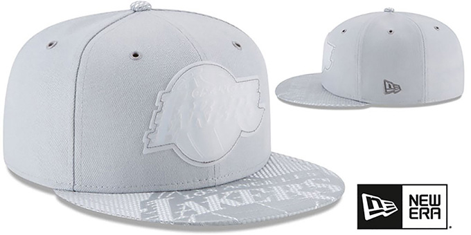 Lakers '2018 NBA ONCOURT ALL-STAR' Grey Fitted Hat by New Era
