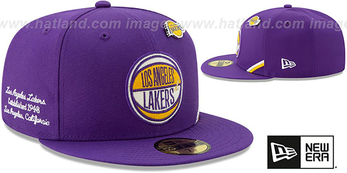 Lakers '2019 NBA DRAFT' Purple Fitted Hat by New Era