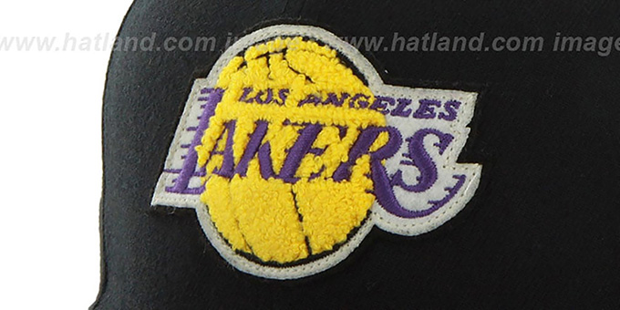 Lakers 'HWC CATERPILLAR' Black Fitted Hat by 47 Brand