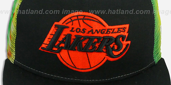 Lakers 'MESH TYE-DYE SNAPBACK' Hat by New Era