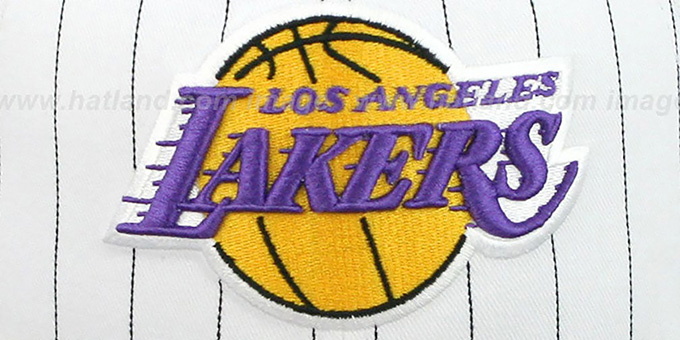 Lakers 'PINSTRIPE BITD SNAPBACK' White-Black Hat by New Era