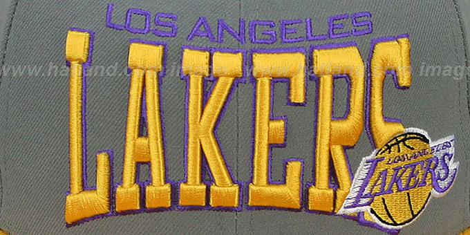 Lakers 'PRO-ARCH' Grey-Gold Fitted Hat by New Era