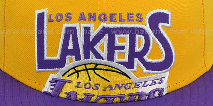 Lakers 'PROFILIN' Gold-Purple Fitted Hat by New Era
