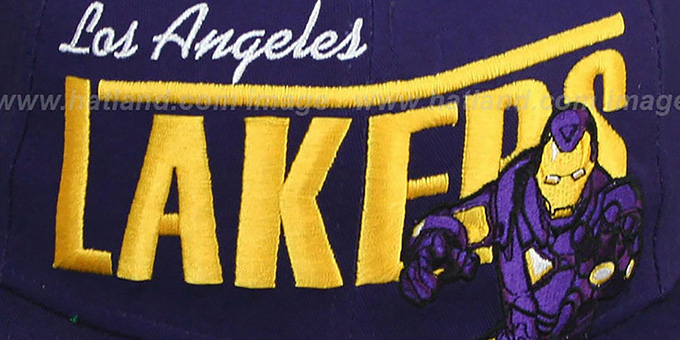 Lakers 'TEAM-HERO SNAPBACK' Purple Hat by New Era