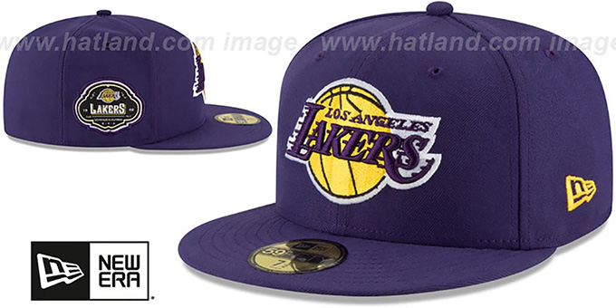 Lakers 'TEAM-SUPERB' Purple Fitted Hat by New Era