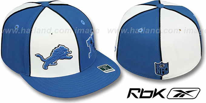 Lions  'NFC DOUBLE LOGO' White-Blue Fitted Hat by Reebok