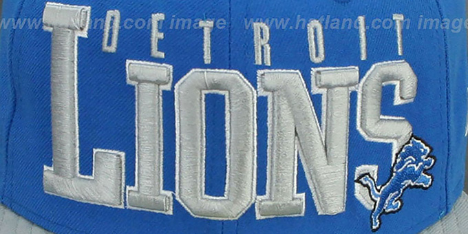 Lions 'NFL 2T CHOP-BLOCK' Blue-Grey Fitted Hat by New Era