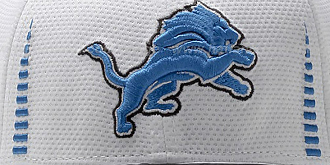 Lions 'NFL TRAINING FLEX' White Hat by New Era