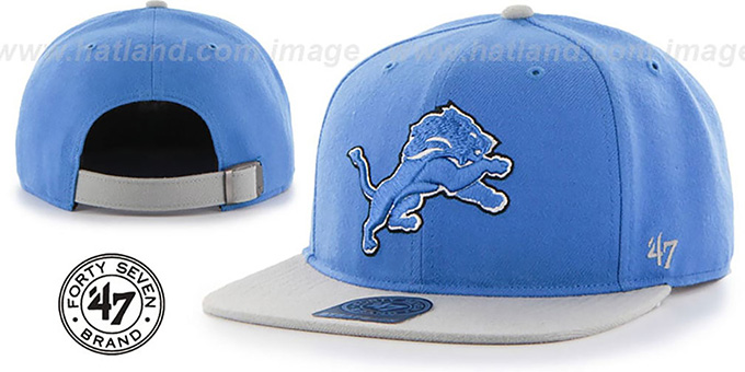 Lions 'SUPER-SHOT STRAPBACK' Blue-Grey Hat by Twins 47 Brand