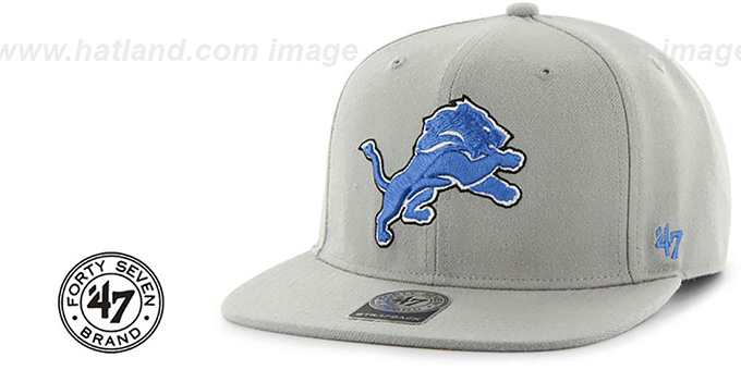 Lions 'SUPER-SHOT STRAPBACK' Grey Hat by Twins 47 Brand