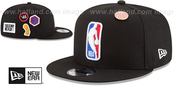 eb02b4fa6745b5 Logoman 2018 NBA DRAFT SNAPBACK Black Hat by New Era