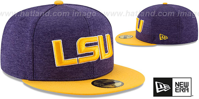 LSU 'HEATHER-HUGE 2' Purple-Gold Fitted Hat by New Era