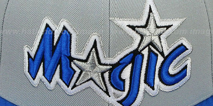 Magic '2T XL-LOGO' Grey-Royal Fitted Hat by Mitchell & Ness