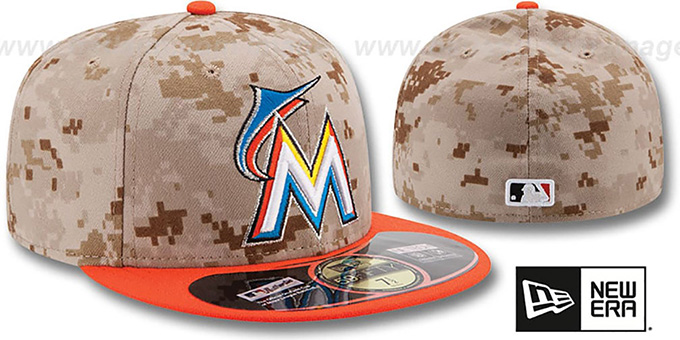 Marlins '2014 STARS N STRIPES' Fitted Hat by New Era