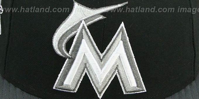 Marlins 'BAYCIK' Black-Grey Fitted Hat by New Era