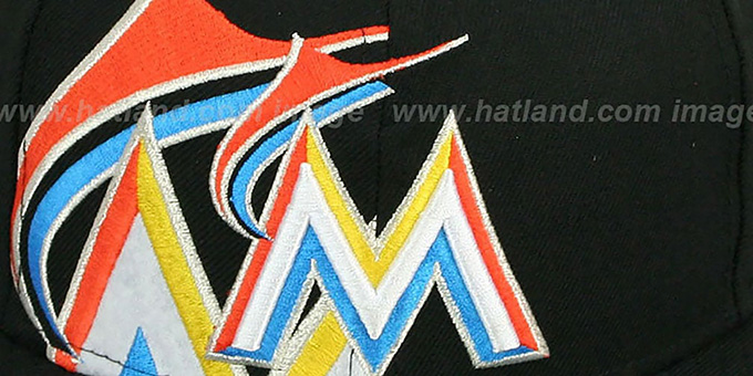 Marlins 'FUNKY MASCOT' Black Fitted Hat by New Era