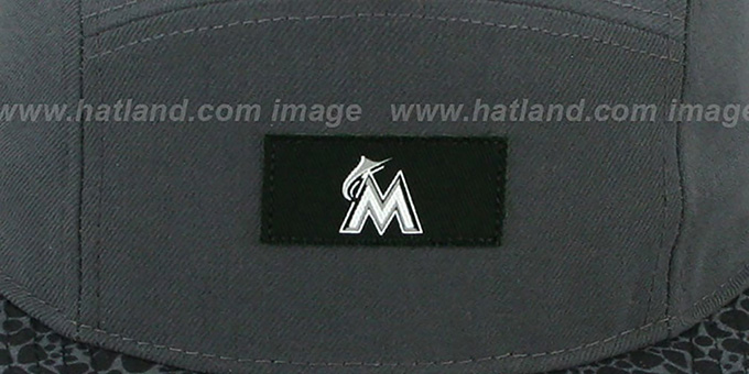 Marlins 'SAFARI CAMPER STRAPBACK' Grey Hat by New Era