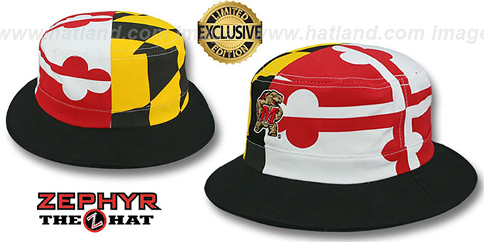 Maryland 'flag Bucket' Hat