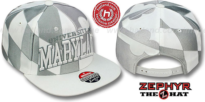 Maryland 'SUPER-FLAG SNAPBACK' Grey-White Hat by Zephyr