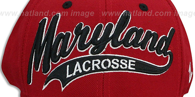 Maryland 'SWOOP LACROSSE' Red Fitted Hat by Zephyr