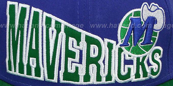 Mavericks 'STOKED SNAPBACK' Royal-Green Hat by New Era