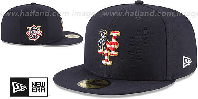 cc6a1725614911 ... Mets '2018 JULY 4TH STARS N STRIPES' Navy Fitted Hat by New Era ...