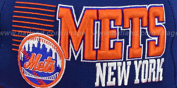 Mets '2T BORDERLINE SNAPBACK' Royal-Orange Hat by New Era