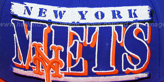 Mets '2T STILL BREAKIN SNAPBACK' Royal-Orange Hat by New Era