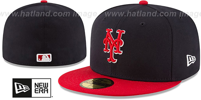 dc2215b3e1b311 New York Mets COUNTRY COLORS Navy-Red Fitted Hat by New Era