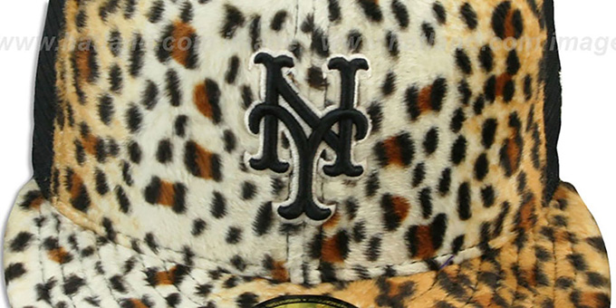 Mets LEOPARD 'ANIMAL-FUR MESH-BACK' Fitted Hat by New Era