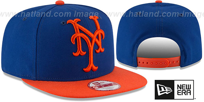 Mets 'LOGO GRAND REDUX SNAPBACK' Royal-Orange Hat by New Era