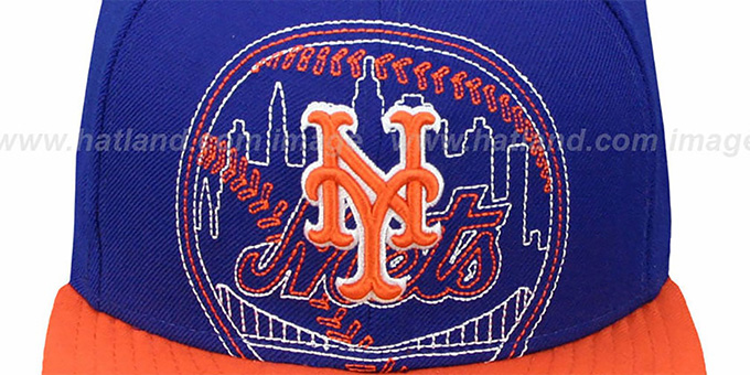 Mets 'NEW MIXIN' Royal-Orange Fitted Hat by New Era