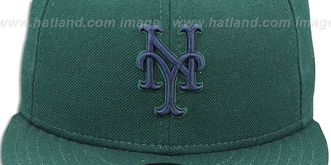 Mets 'QS UNDER PLAID' Green-Navy Fitted Hat by New Era
