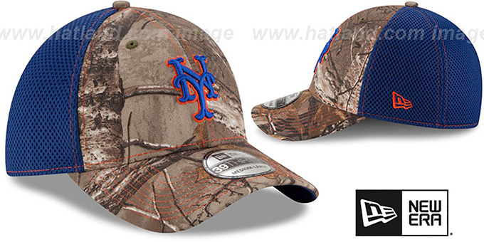 Mets 'REALTREE NEO MESH-BACK' Flex Hat by New Era