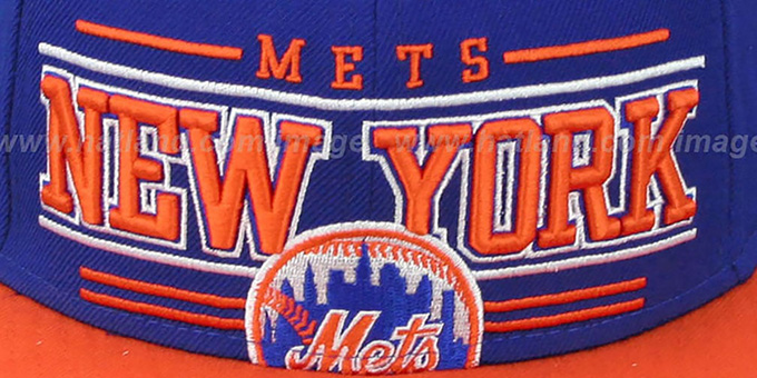 Mets 'RETRO-SMOOTH' Royal-Orange Fitted Hat by New Era