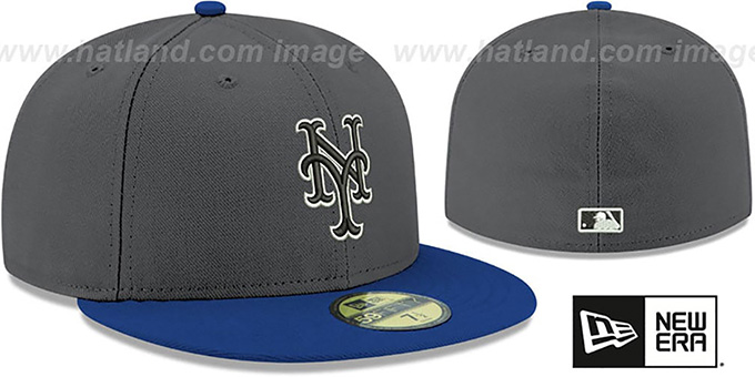 Mets 'SHADER MELT-2' Grey-Royal Fitted Hat by New Era