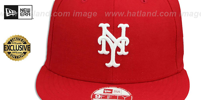 Mets 'TEAM-BASIC SNAPBACK' Red-White Hat by New Era