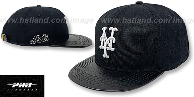 Mets 'TEAM-BASIC STRAPBACK' Black Hat by Pro Standard