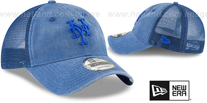 Mets 'TONAL-WASHED TRUCKER SNAPBACK' Royal Hat by New Era
