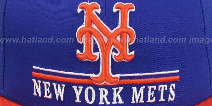 Mets 'UNDERLINE SNAPBACK' Royal-Orange Hat by New Era