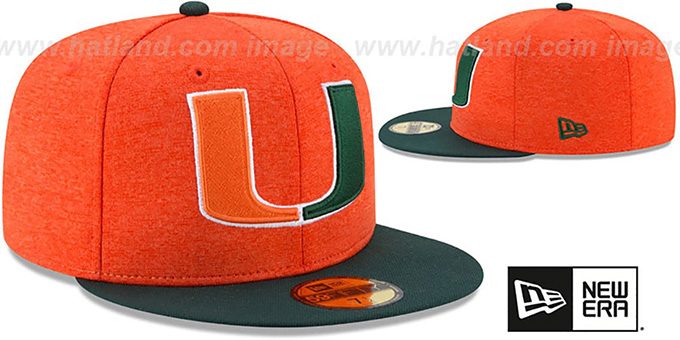 Miami 'HEATHER-HUGE 2' Orange-Green Fitted Hat by New Era