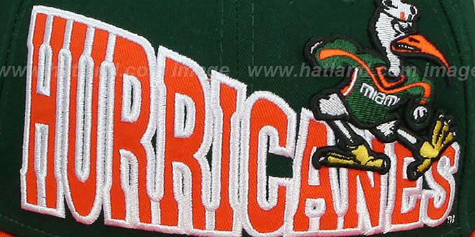Miami STOKED SNAPBACK Green-Orange Hat by New Era c46fbdc2a703